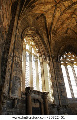 Interior of Elgin Cathedral, Scotland