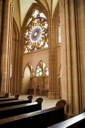 Interior of european catholic church