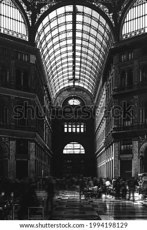 Interior of Galleria Umberto I in Naples, Italy Foto d'archivio ©