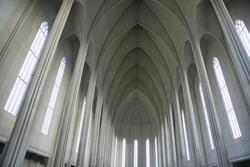 Interior of Hallgrimskirkja Cathedral, the Lutheran (Church of Iceland)