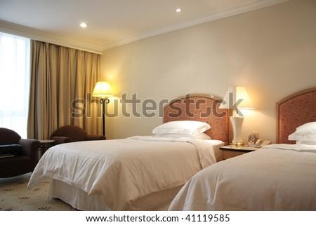 interior of hotel room or bedroom