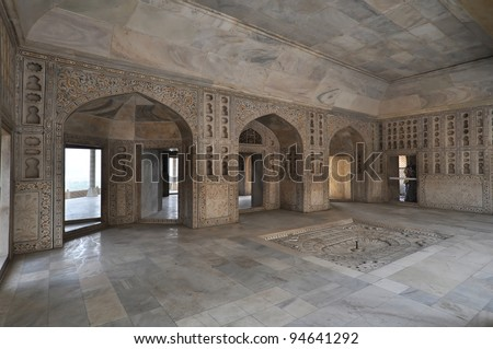 Interior of Itmad-ud-Daulas Tomb, usually called the Baby Taj.