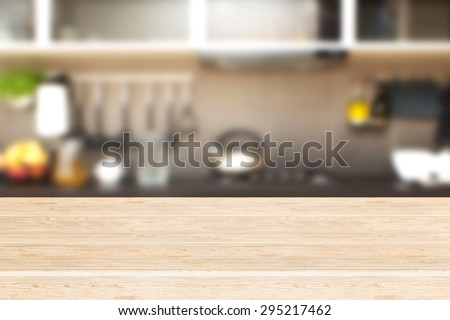 Interior of kitchen and desk space.