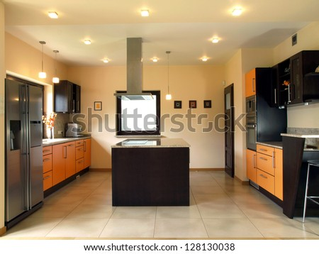 Interior of kitchen in a modern house