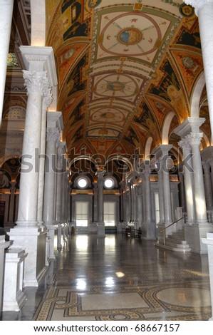 Interior of Library of Congress, Washington DC,USA