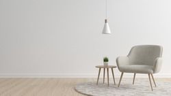 Interior of living, modern mock up scene with empty space for product or text