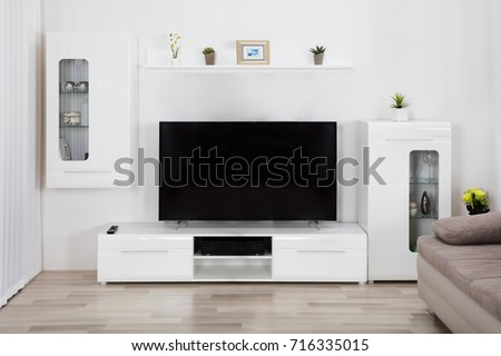 Interior Of Living Room With Couch And Television