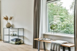 Interior of luxury and beautiful living room