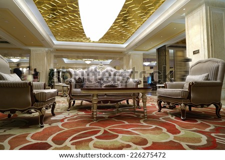 Interior of Luxury lobby