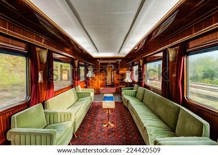 interior of luxury vinitage old ...