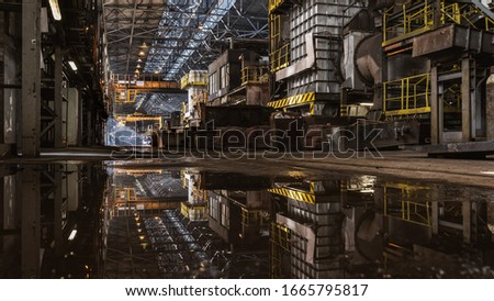 Interior of metallurgy hall in a copper smelter Foto stock ©