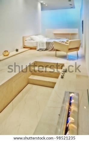 interior of modern bed room