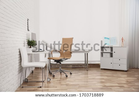 Interior of modern medical office. Doctor's workplace Photo stock ©