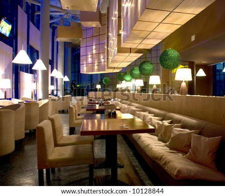 interior of modern nigt club or restaurant