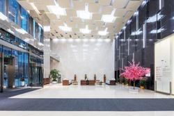 interior of modern office lobby