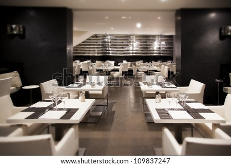 interior of modern restaurant