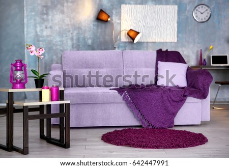 interior of modern room with...