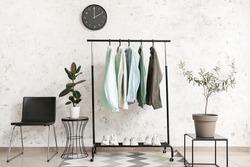 Interior of modern stylish dressing room