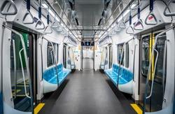 Interior of MRT in Jakarta.