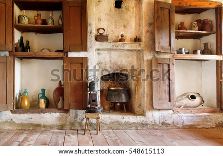 interior of old house in...