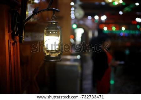 interior of oriental restaurant Iran #732733471