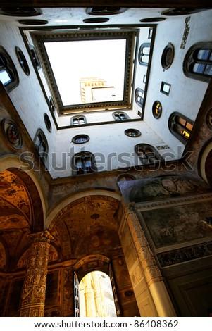 Interior of Palazzo Vecchio, Florence, Tuscany, Italy