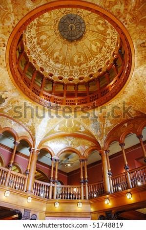 Interior of Ponce De Leon Hotel (Flagler College) in St. Augustine