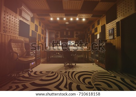 Interior of recording studio #710618158