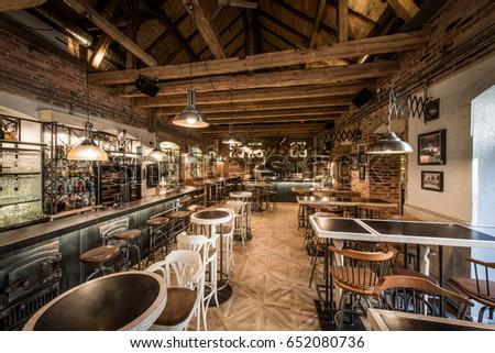 Interior of restaurant pizzeria