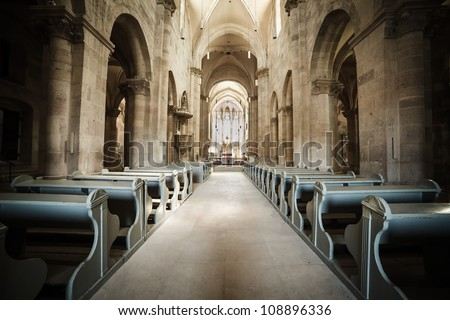 Interior of Roman Catholic cathedral in Alba Iulia, Romania