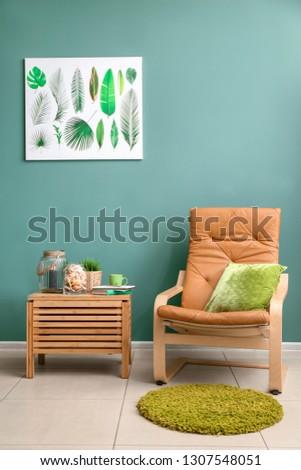 Interior of room with seashells