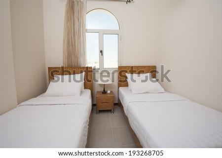 Interior of show home bedroom showing interior design concept