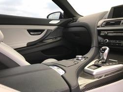 Interior of sportcar black and silver