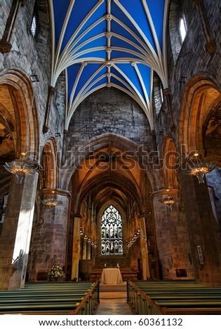 Interior of St Giles Cathedral. Edinburgh. Scotland. UK.