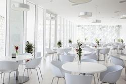 interior of summer restaurant