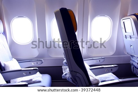 interior of the airplane