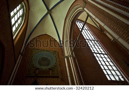interior of the beautiful Abbey in Bad Doberan