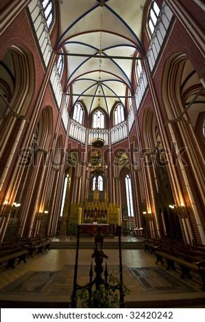 interior of the beautiful Abbey in Bad Doberan