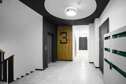 Interior of the corridor hall, apartment building