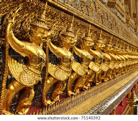 Interior of the Grand Palace in Bangkok. Thailand