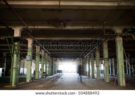 Interior of the old spinning mill in Widzew, Lodz, Poland