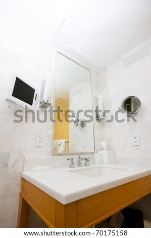 Interior of the room - Sink in the bathroom