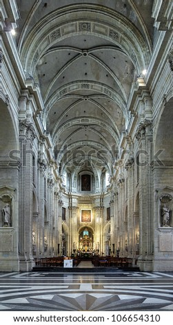 Interior of the Saint Peter's Church in Ghent, Belgium