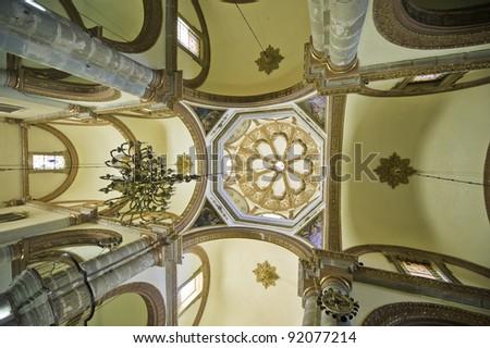 Interior of the Soccolo cathedral in Oaxaca Mexico - stock photo