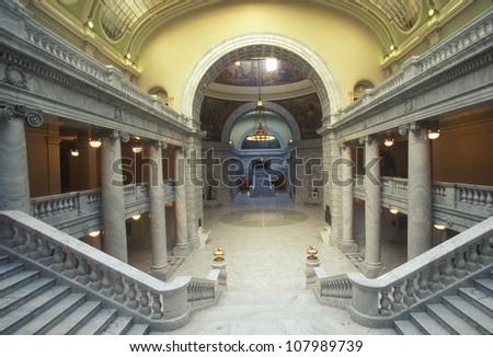 Interior of the State Capitol of Utah in Salt Lake City.