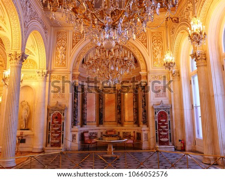 interior of the State Hermitage (Winter Palace) in St. Petersburg Russia #1066052576