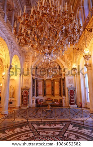 interior of the State Hermitage (Winter Palace) in St. Petersburg Russia #1066052582