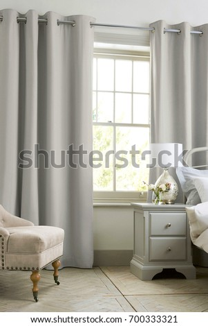 interior of the stylish bedroom #700333321