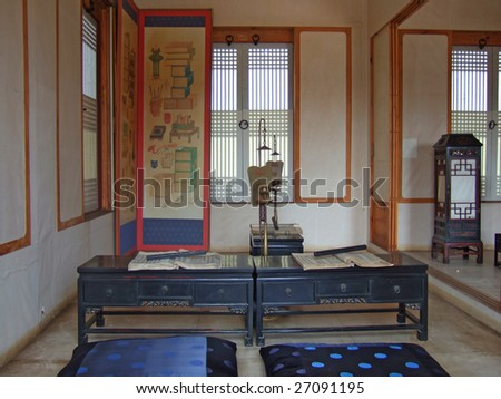 interior of traditional korean home