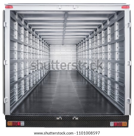 interior of truck trailer